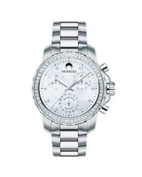 Movado - Metallic 'series 800' Diamond Bezel Chronograph Bracelet Watch - Lyst