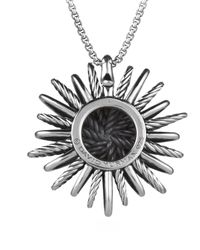 David Yurman - Metallic Starburst Large Pendant With Diamonds On Chain - Lyst