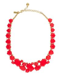 kate spade new york - Red Color Pop Necklace - Lyst