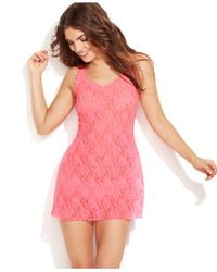 Hanky Panky | Pink Signature Lace Chemise 485214 | Lyst