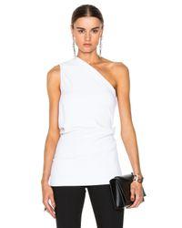 Cushnie et Ochs | White Stretch Cady One Shoulder Top | Lyst