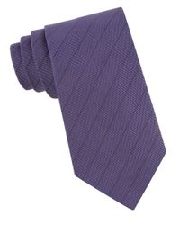 John Varvatos | Purple Silk Woven Stripe Tie for Men | Lyst