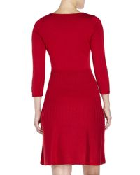 Marc New York | Red Fit & Flare Sweater Dress | Lyst