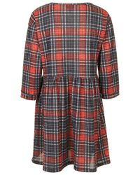 TOPSHOP | Multicolor Red Check Smock Dress | Lyst