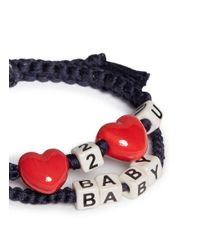 Venessa Arizaga | Black 'love 2 Love U Baby' Bracelet | Lyst