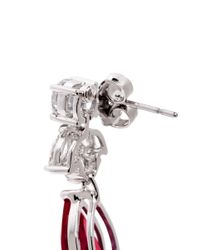 CZ by Kenneth Jay Lane - Red Pear-cut Drop Earrings - Lyst