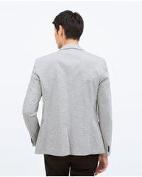 Zara | Gray Basic Blazer for Men | Lyst