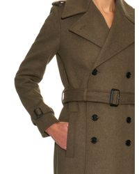 JOSEPH - Natural Military Tweed Trench Coat - Lyst