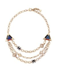 Lulu Frost | Metallic 'petra' Crystal Pavé Stone Mosaic Tier Necklace | Lyst
