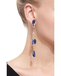 VBH - Blue Diamond Bead And Sapphire Drop Earrings - Lyst