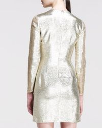 Stella McCartney - Metallic Longsleeve Laceside Dress - Lyst