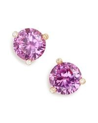 kate spade new york | Purple 'rise And Shine' Stud Earrings | Lyst