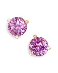 kate spade new york | Purple 'rise And Shine' Stud Earrings - Fuschia | Lyst