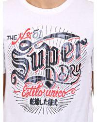 Superdry | White Tin Tab Printed Cotton T-shirt | Lyst