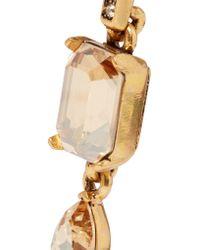 Oscar de la Renta   Metallic Gold-plated Crystal Earrings   Lyst