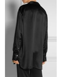 Ellery - - Incense Silk-satin Top - Black - Lyst