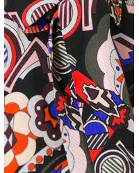 MSGM - Black Patterned Silk Shirt - Lyst