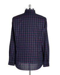 Strellson   Purple Slim Fit Printed Sportshirt for Men   Lyst
