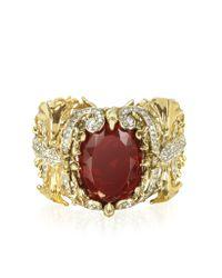Roberto Cavalli | Metallic Renaissance Golden Metal Bracelet W/Stone | Lyst