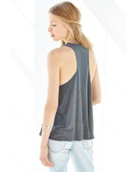 Truly Madly Deeply - Black Cowl-neck Tucked Tank Top - Lyst