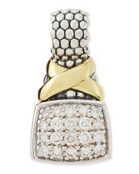 Lagos - Metallic Silver 18k Diamond Lux Enhancer - Lyst
