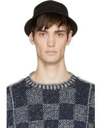 Junya Watanabe - Black Knit Linen Worker Hat for Men - Lyst