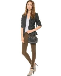 Mother - Brown The Looker Skinny Corduroy Pants - Moss - Lyst