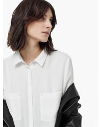 Mango - Natural Patch Pocket Shirt - Lyst