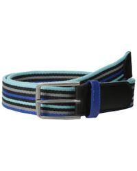 Original Penguin | Blue Antonio Webb Stripe Belt for Men | Lyst