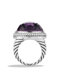 David Yurman | Purple Dy Signature Oval Ring With Black Orchid & Diamonds | Lyst