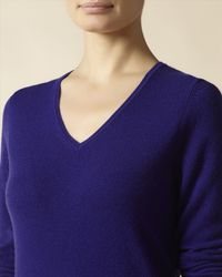 Jaeger - Purple Cashmere V Neck Sweater - Lyst