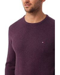 Tommy Hilfiger - Purple Pima Cashmere Sweater for Men - Lyst