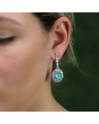Arunashi - Metallic Paraiba And Rose Cut Diamond Earrings - Lyst