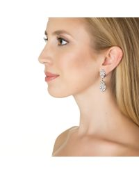 Kenneth Jay Lane | Metallic Garland Oval Drop Earrings | Lyst