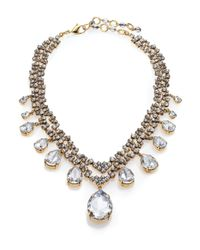Erickson Beamon | Metallic Temptress Crystal Double-row Teardrop Necklace | Lyst