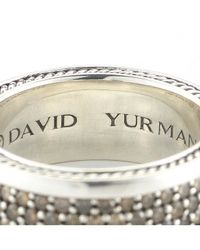 David Yurman | Metallic Pre-Owned: Streamline Three Row Pave Band (Mens) for Men | Lyst