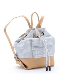 L.A.M.B. - Blue Grey Crackle Print Canvas 'gracie2' Backpack - Lyst