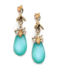 Alexis Bittar | Blue Desert Jasmine Lucite, Jasper & Crystal Iridescent Bumble Bee Drop Earrings | Lyst