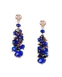 Ted Baker - Blue Beaded Cluster Earrings - Lyst