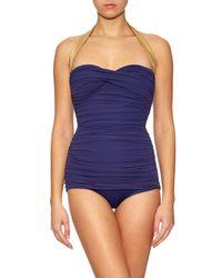 Norma Kamali | Blue Walter Mio Swimsuit | Lyst