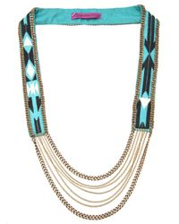 Fiona Paxton - Metallic Beaded Necklace - Lyst