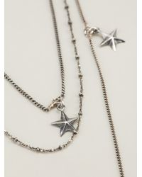 Emanuele Bicocchi | Metallic Multi Layered Star Necklace | Lyst