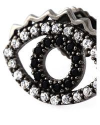 KENZO   Black 'eye' Earrings   Lyst