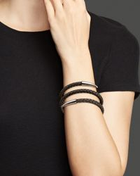 Roberto Coin - Gray Sterling Silver And Ruthenium Snake Bangle - Lyst