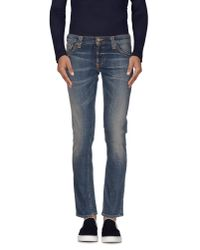 Nudie Jeans - Blue Denim Trousers for Men - Lyst