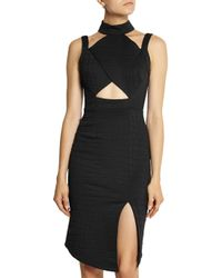 Jonathan Simkhai - Black Cutout Embossed Stretch-Jersey Dress - Lyst