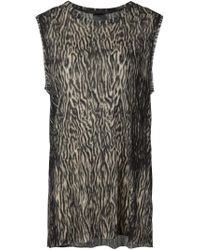 Haider Ackermann - Brown Tiger Print Sleeveless T-shirt - Lyst