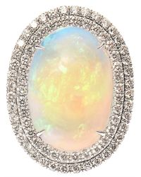 NSR Nina Runsdorf - Metallic Diamond, Opal & White-Gold Ring - Lyst