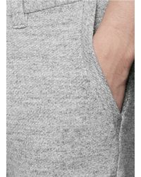 Nanamica - Gray Cotton French Terry Sweatpants for Men - Lyst