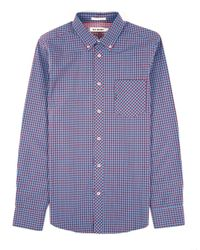 Ben Sherman | Purple Gingham Plaid Sportshirt for Men | Lyst